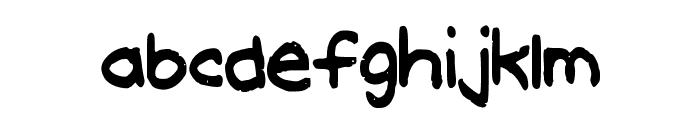 MeghansFont Font LOWERCASE
