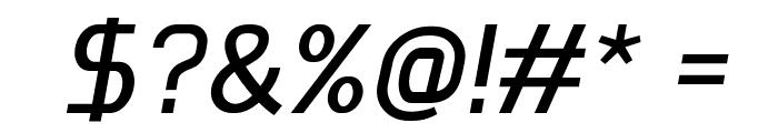 Megi Sans Italic Font OTHER CHARS