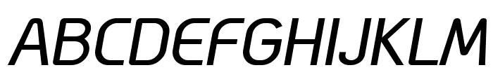 Megi Sans Italic Font UPPERCASE
