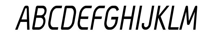 Megi Sans Narrow Italic Font UPPERCASE