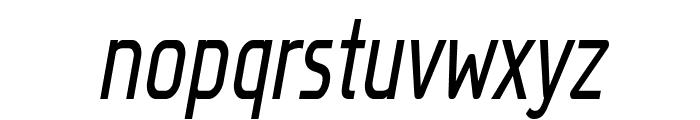 Megi Sans Narrow Italic Font LOWERCASE