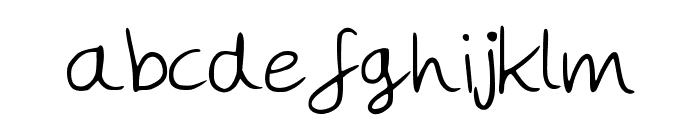 MegsHand Font LOWERCASE