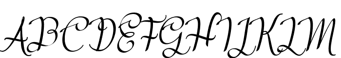 Meikaylascript Font UPPERCASE