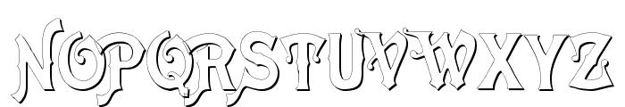 Meistersinger Shadow Font UPPERCASE