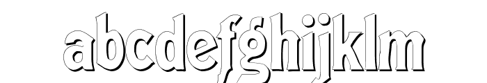 Meistersinger Shadow Font LOWERCASE