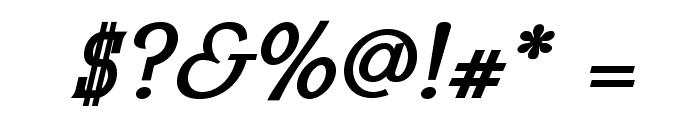 MekanusADFStd-BoldItalic Font OTHER CHARS