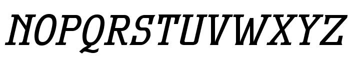 MekanusADFStd-BoldItalic Font UPPERCASE