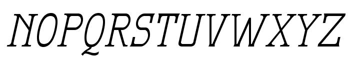 MekanusADFStd-Italic Font UPPERCASE