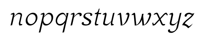 MekanusADFStd-Italic Font LOWERCASE