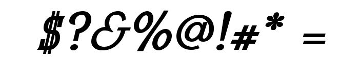 MekanusADFTitlingStd-BdItalic Font OTHER CHARS