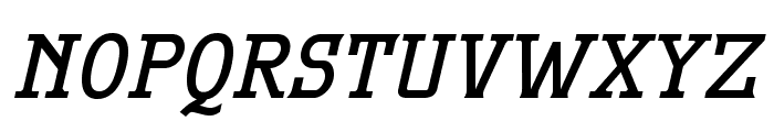 MekanusADFTitlingStd-BdItalic Font LOWERCASE