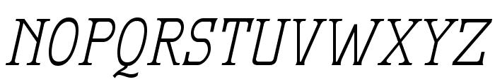 MekanusADFTitlingStd-Italic Font UPPERCASE