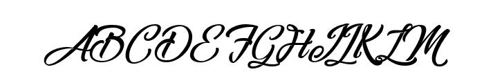 Melancholight Font UPPERCASE