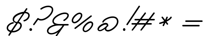 Melay Script PERSONAL USE Font OTHER CHARS