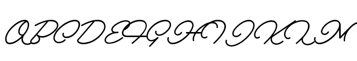 Melay Script PERSONAL USE Font UPPERCASE