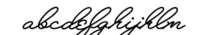Melay Script PERSONAL USE Font LOWERCASE