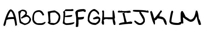 MeliHand Font UPPERCASE