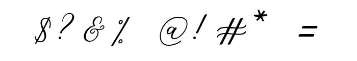 MelindaScript Font OTHER CHARS