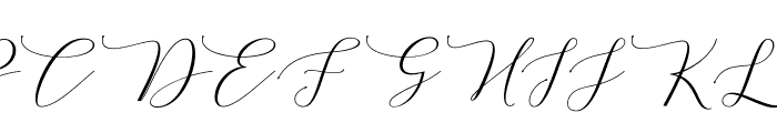 MelindaScript Font UPPERCASE