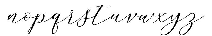 MelindaScript Font LOWERCASE