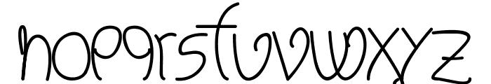 Melinett 2 - LJ-Design Studios Italic Font LOWERCASE