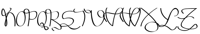 Melinett 3 - LJ-Design Studios Italic Font UPPERCASE