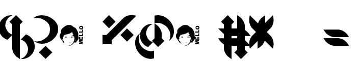 Mellogothic Font OTHER CHARS