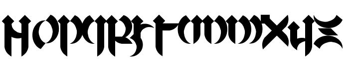 Mellogothic Font UPPERCASE