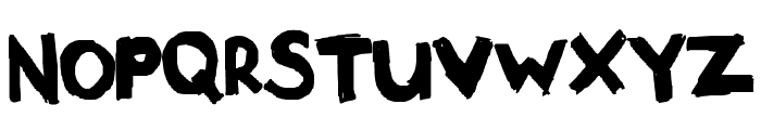 Meltdown Un-Radiated Font UPPERCASE