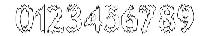 Melting Outline Font OTHER CHARS
