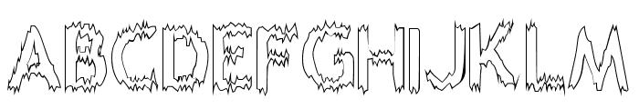 Melting Outline Font LOWERCASE