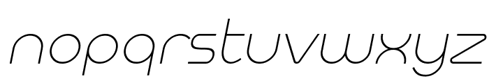 Meltix Light Italic Demo Font LOWERCASE