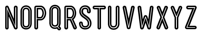 Mensch Bold Inline Font UPPERCASE