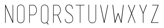 Mensch Thin Font UPPERCASE
