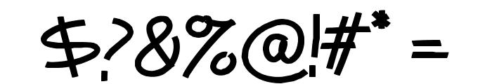 Mentabrush Font OTHER CHARS