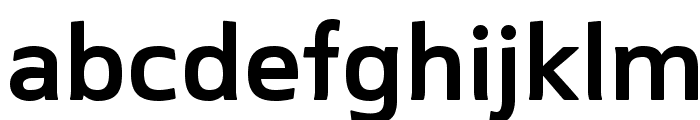 Mentone SemiBold Font LOWERCASE