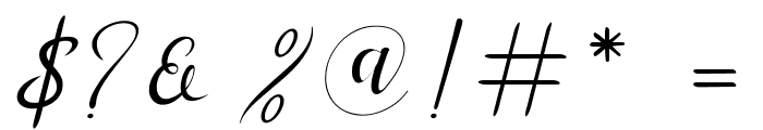MenttionScript Font OTHER CHARS