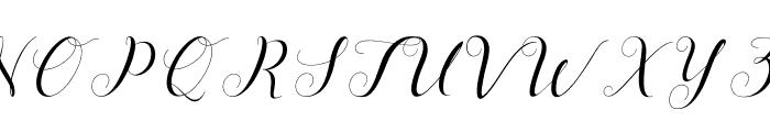 MenttionScript Font UPPERCASE