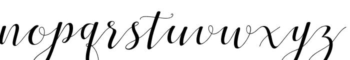 MenttionScript Font LOWERCASE