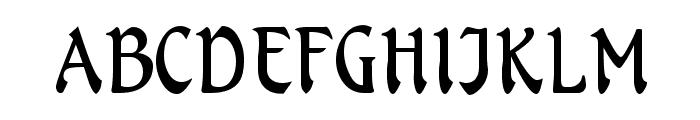 Menuetto Font UPPERCASE