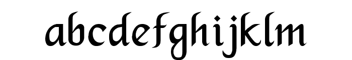 Merced Font LOWERCASE