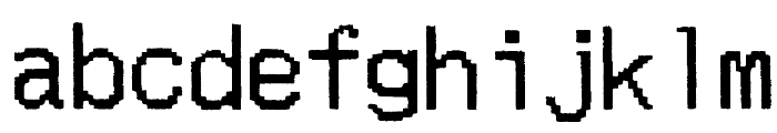 Merchant Copy Doublesize Font LOWERCASE