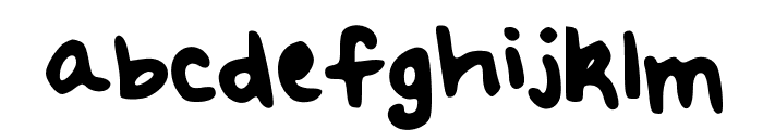 Meredith's Hand Font LOWERCASE