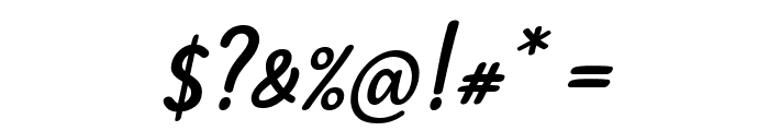 Mergic Italic Font OTHER CHARS