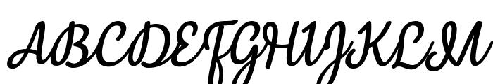 Mergic Italic Font UPPERCASE