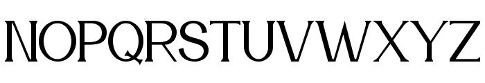 Meridian Font UPPERCASE