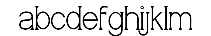 Meridian Font LOWERCASE
