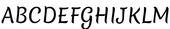 Merienda Font UPPERCASE