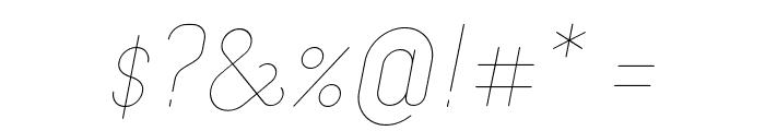 Merijntje ExtraLight Italic Font OTHER CHARS