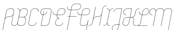Merijntje ExtraLight Italic Font UPPERCASE